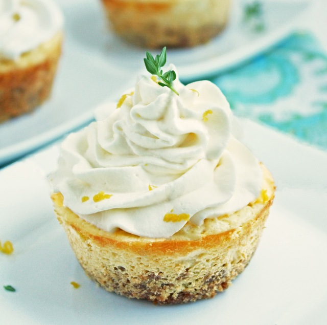 Lemon, Thyme & Chevre Cheesecakes