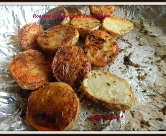 Roasted Potatoes with Zaatar Spice - Homemade