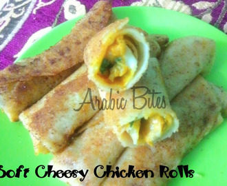 Soft Cheesy Chicken Rolls