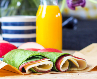 LcHf spinatwrap; fri for gluten, melk og nøtter