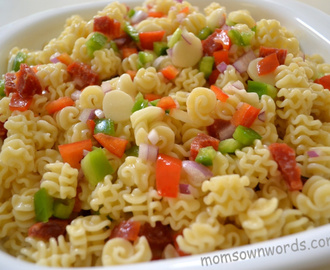 Radiatore Pasta Salad with  Briannas Blush Red Wine Vinaigrette