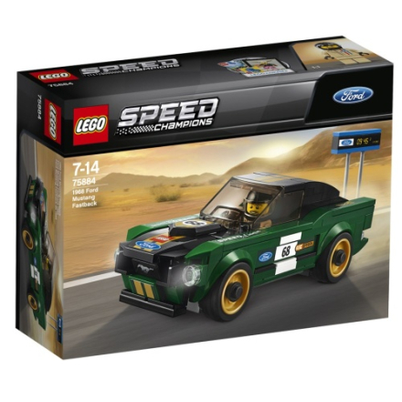 LEGO Speed Champions, 75884, 1968 Ford Mustang Fastback