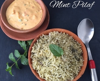 MInt Pilaf | Pudina Pilaf | Pudina Rice | How to make Pudina Pilaf | Stepwise pictures