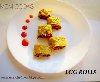 Egg Rolls | How to make Egg rolls| Stepwise Pictures