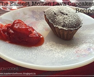 MOLTEN LAVA CupCake Recipe| How to make Molten Lava Cup Cake | Stepwise pictures | Melt in the mouth Cake