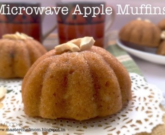 MICROWAVE Apple Muffins (Eggless)-your quickest way to yumminess!
