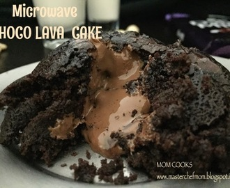 Microwave Chocolava cake (eggless recipe)- the 90 second cake.