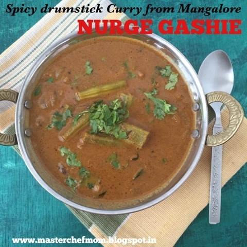 Mangalore Style NURGE GASHIE | Spicy Drumstick Curry from Mangalore | How to make Nurge Gashie| Stepwise pictures
