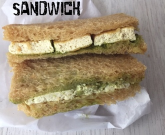 Green Chutney Tofu Sandwich | How to make Green Chutney Tofu Sandwich |Stepwise Pictures