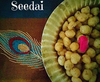 Seedai | Gluten free South Indian Traditional Savoury Marbles | How to make Seedai from Scratch | Stepwise Pictures