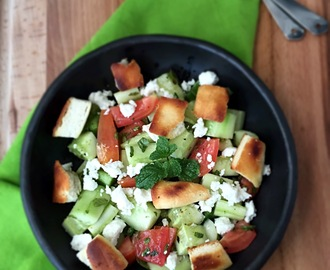 Arabic Fattoush Salad | How to make Fattoush Salad | Stepwise Pictures