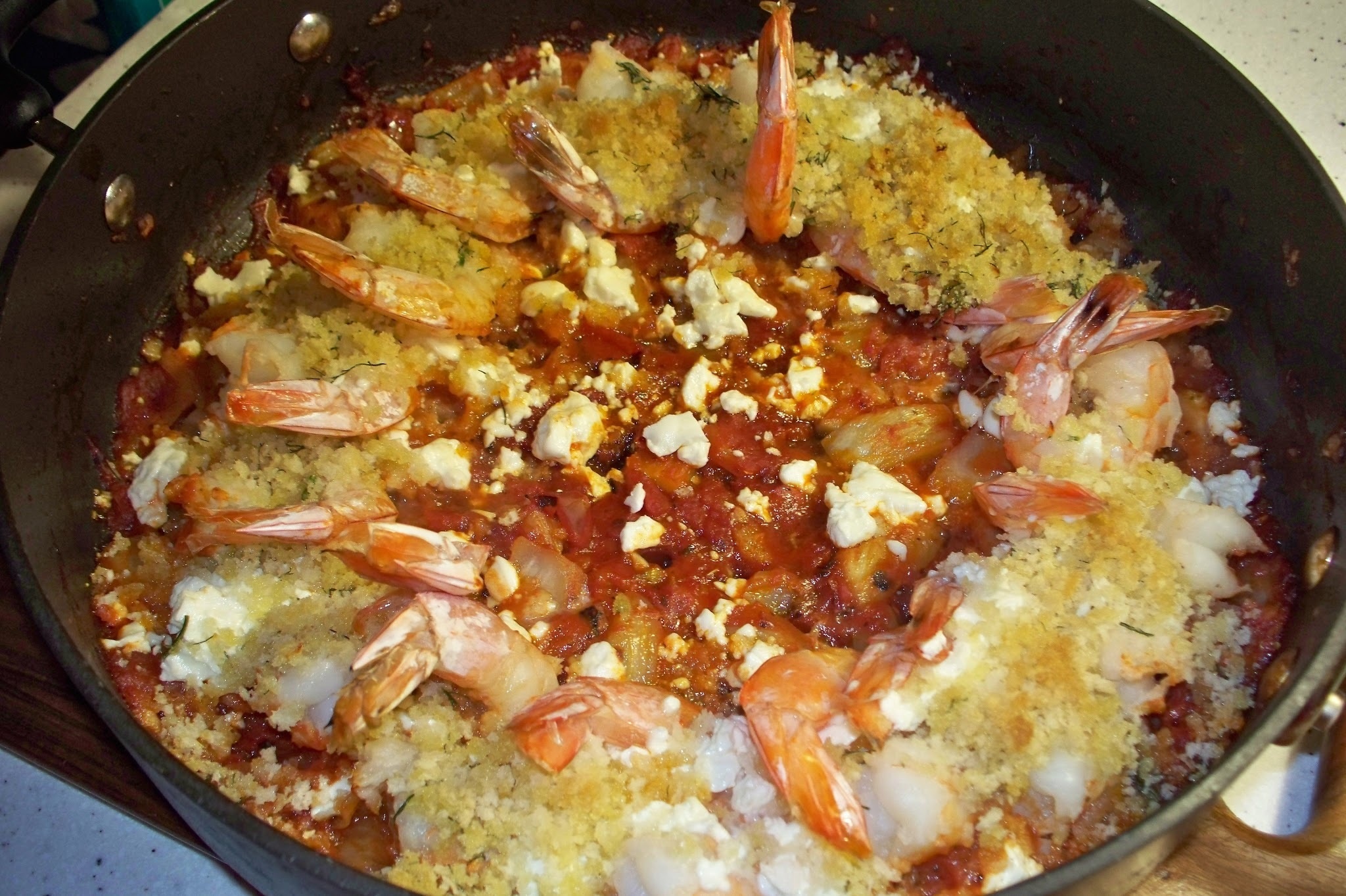 How easy is that? ROASTED SHRIMP WITH FETA