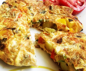 Bell Pepper Spanish Omelette