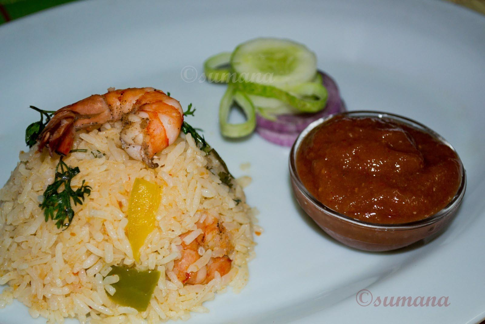 Mexican Prawn Rice with Salsa