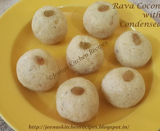 Rava Coconut Ladoo with Condensed Milk