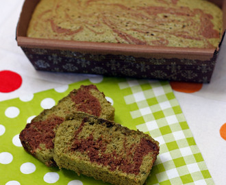 Matcha (Green Tea) and Chocolate Sponge Marble Cake