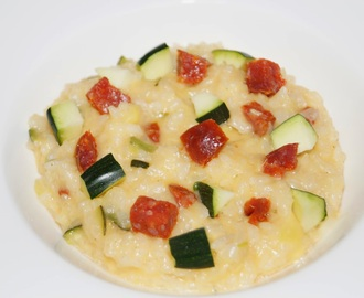 Risotto aux courgettes et au chorizo version Thermomix