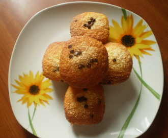 Muffin cocco e gocce di cioccolato – Coconut and chocolate chips muffins