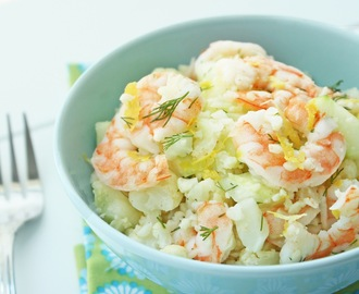 Shrimp & Cauliflower Salad w/ Lemon & Dill