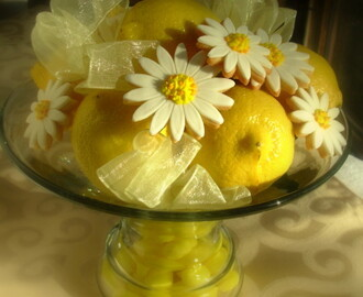 Lemon Daisy Cookie Bouquet