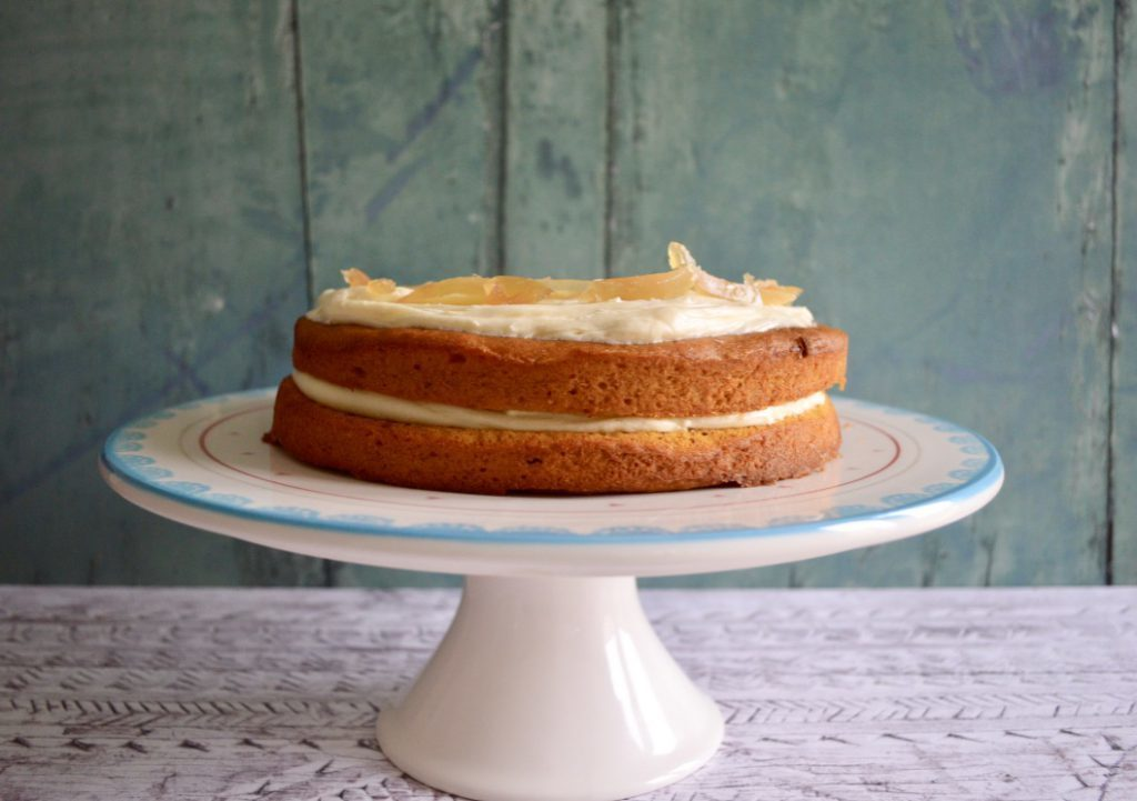 Gluten and Dairy Free Pumpkin Spiced Cake with Cream Cheese Frosting