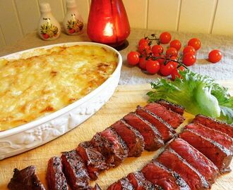 Mac 'n' cheese & Striploin ♫♪