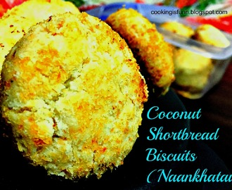 Coconut Shortbread Biscuits (Coconut Nankhatai [Eggless])