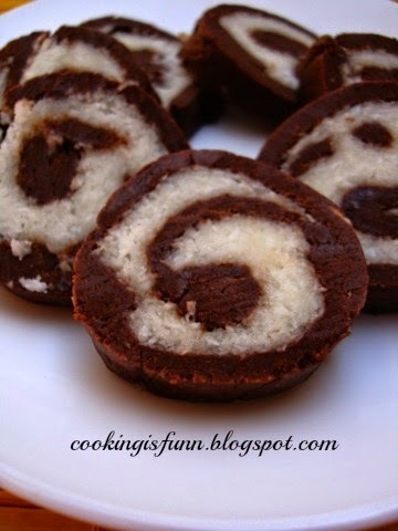 Roller Coaster - Chocolate Coconut Swiss Rolls