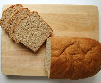 No-Knead Whole Wheat Honey Bread