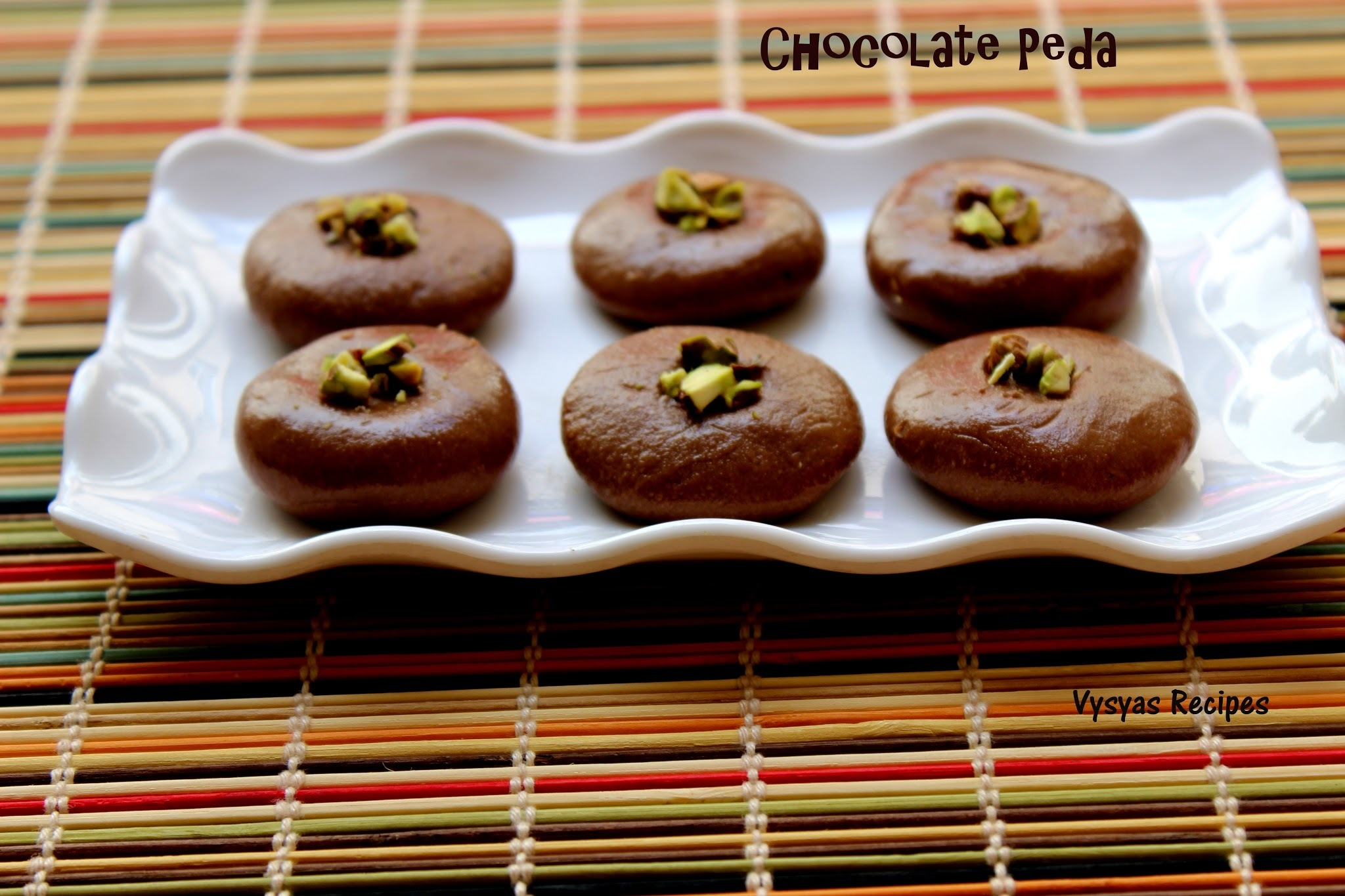 Chocolate Peda - Instant Chocolate Peda  -  Easy Diwali Sweet Recipe