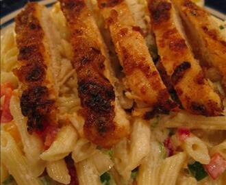 My Version of Blackened Chicken Pasta