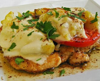 Chicken Cutlets with Tomato, Artichokes and Mozzarella