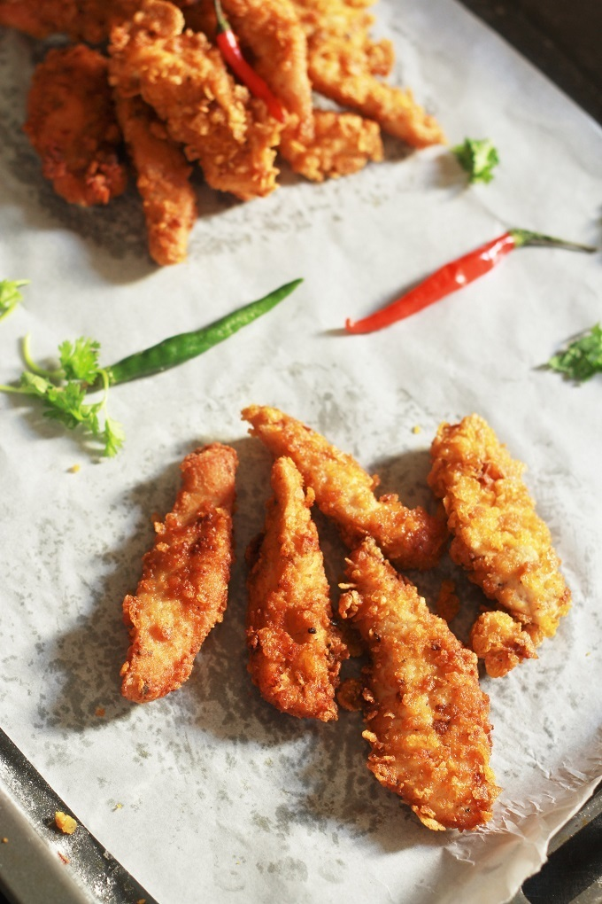 Homemade Crispy & Easy Chicken Strips Recipe
