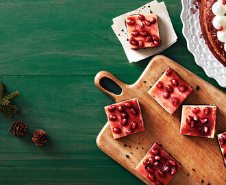 Creamy Chocolate Pomegranate Squares