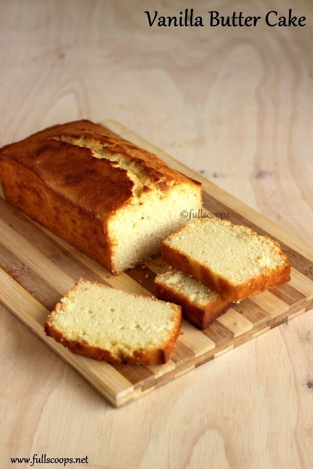 Vanilla Butter Cake | Easy Butter Cake Recipe