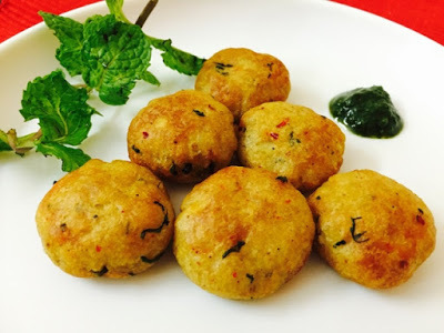 POTATO MINT CUTLET (AALU PUDINA TIKKI AIRFRIED)
