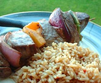 Honey-Steak Kebabs