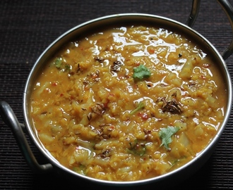Simple Cabbage Dal Recipe