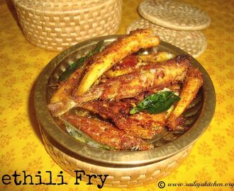 Nethili Fish Fry Recipe / Anchovie Fish Fry Recipe / Nethili Meen Varuval Recipe