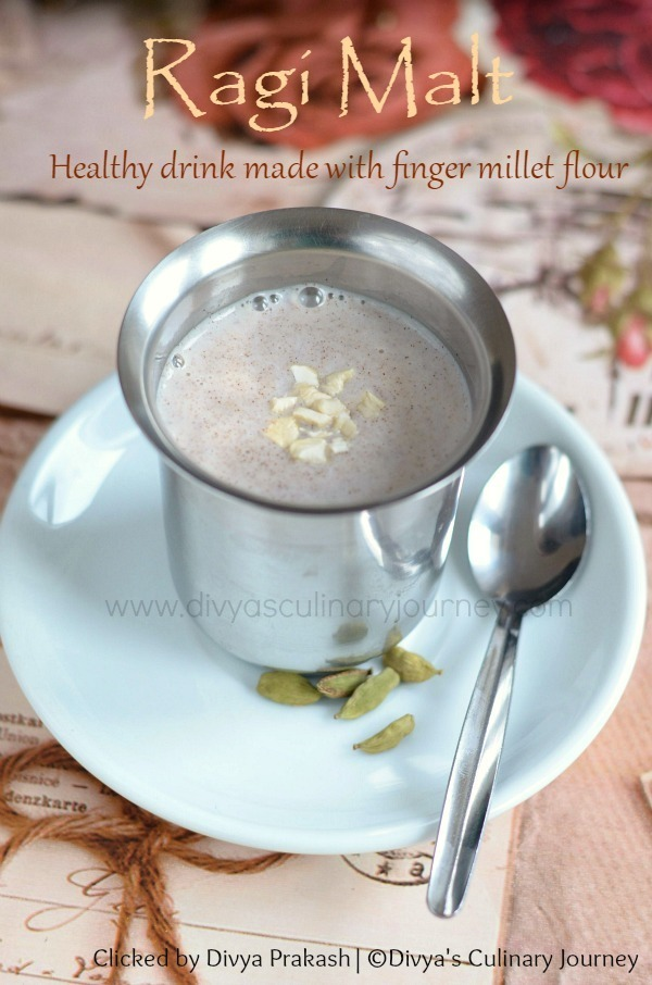Ragi Malt Recipe | Sweet Ragi Malt | Healthy finger millet drink