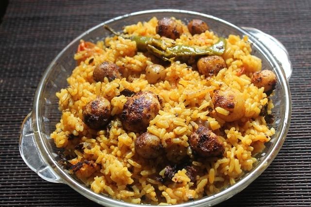 Easy Baby Potato Biryani Recipe