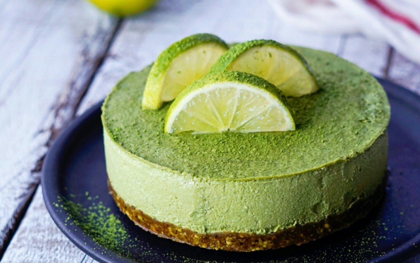 Raw Matcha Lime Cheesecake [Vegan, Gluten-Free]