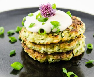 Quick and Easy Zucchini Fritters [Vegan, Gluten-Free]
