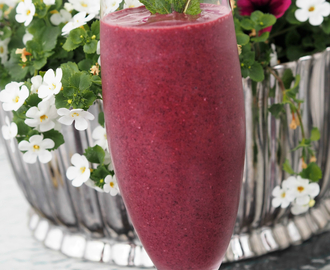Blueberry Brain Booster Smoothie - Bli klar til eksamen!