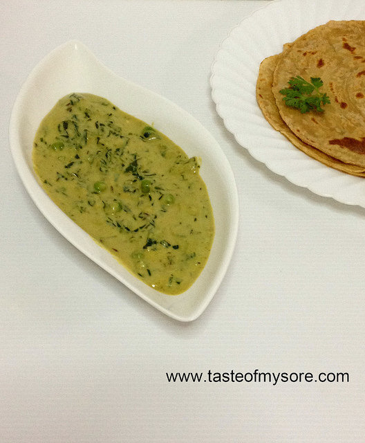 Methi Matar Malai ~ Flavorful and Simple Dish