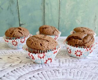 Gluten and Dairy Free Mint Choc Chip Muffins