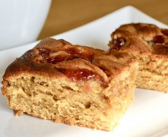 Gluten and Dairy Free Peanut Butter & Jelly Blondies