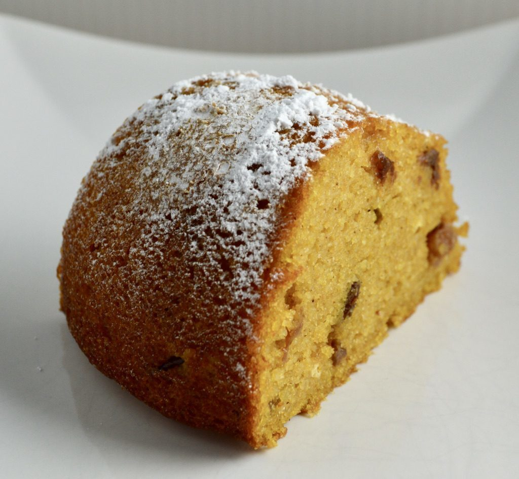 Gluten and Dairy Free Orange Pumpkin Polenta Cake