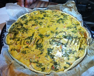 Quiche de cogumelos, delicias do mar e atum