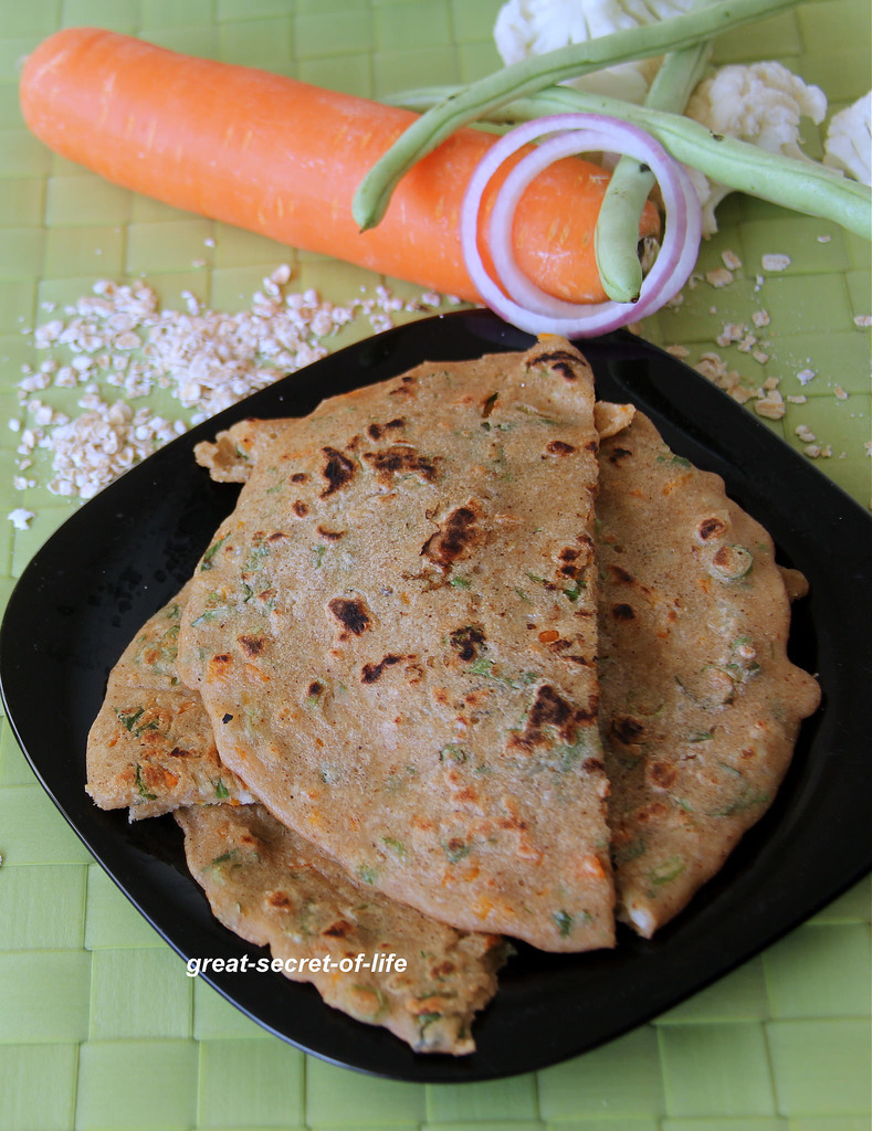 Oats Mixed Vegetable Oothappam - oats uttappam - Healthy dinner recipe - Healthy breakfast recipe - Oats recipe - Instant Oats uttapam recipe